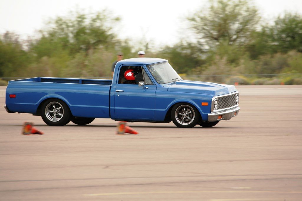 72 C-10 at the autocross