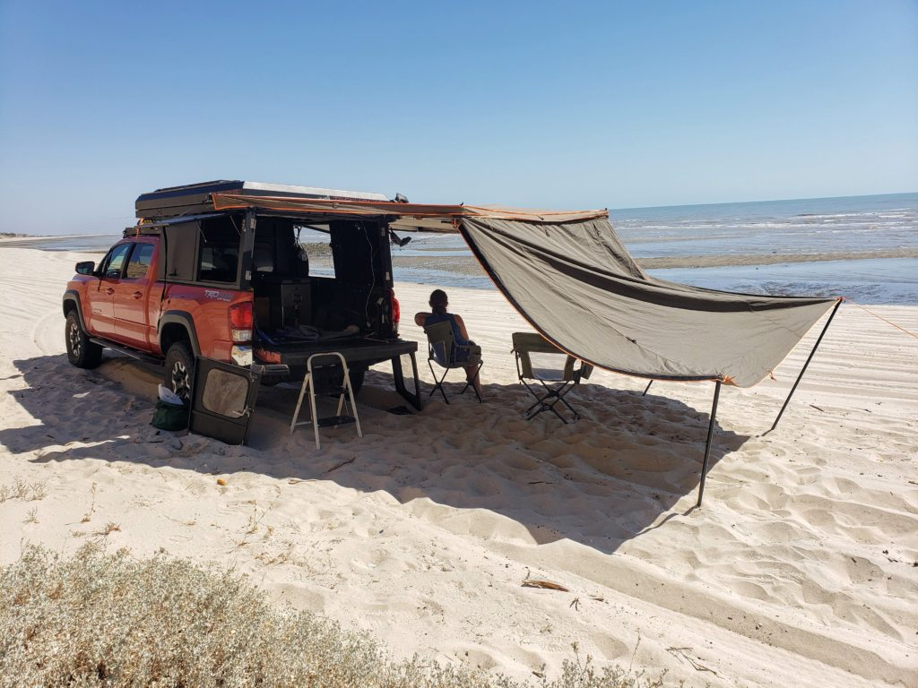 Darche awning on the beach